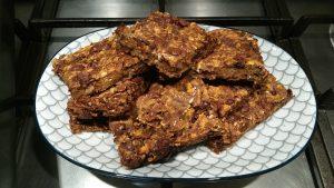 Sweet potato choc chip snack bars
